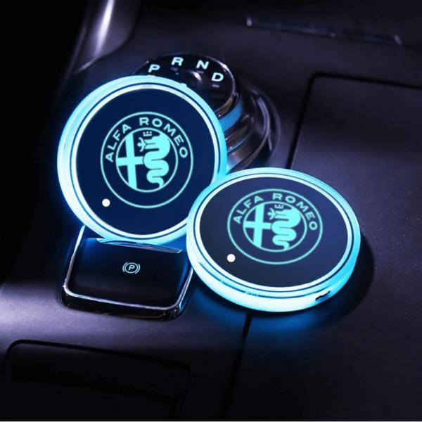 Alfa Romeo LED cup holder light