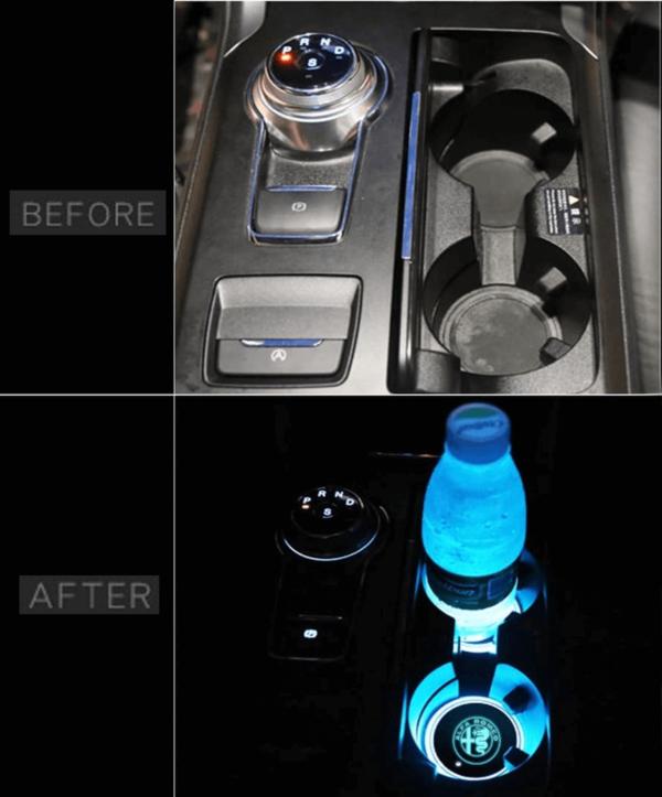 Alfa Romeo LED cup holder lights