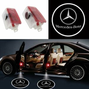 mercedes door projector lights