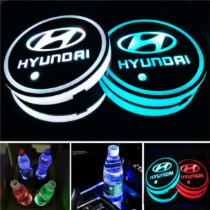 LED Cup Holder Lights with Hyundai Logo