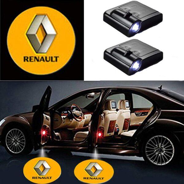 Renault door logo light