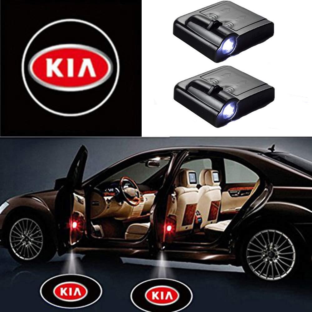 2 Pcs LED Car Door Logo Ghost Shadow Light For KIA Free