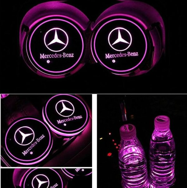Benz LED Cup Holder Light