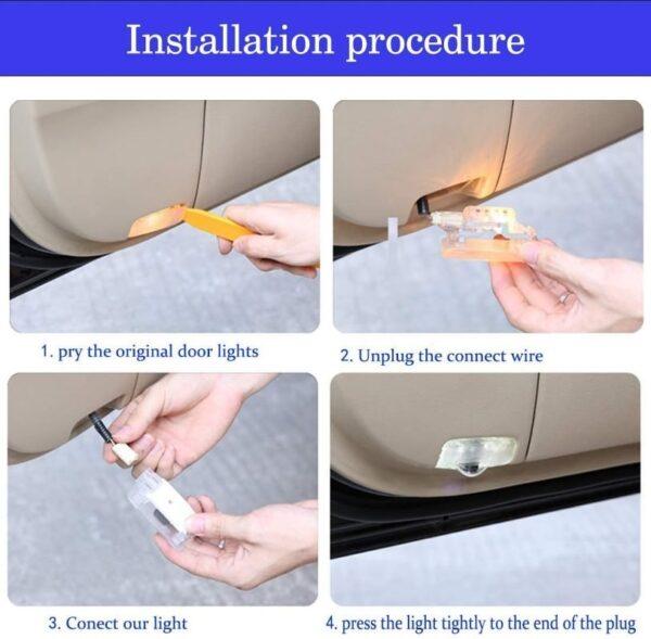 Benz car door projector installation