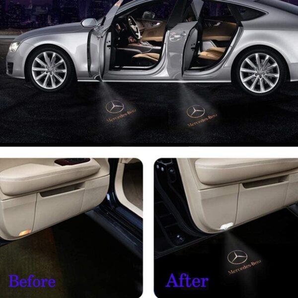 Benz car door projector light
