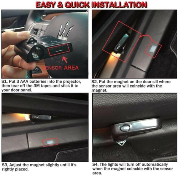 Install Car Door Lights