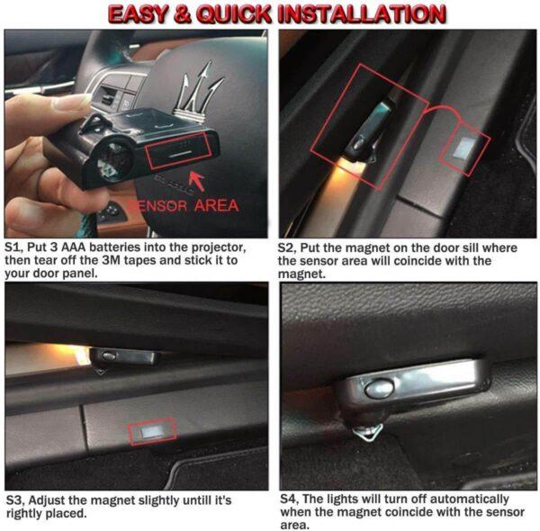 Install Car Door Lights
