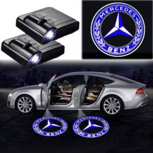 mercedes door light logo