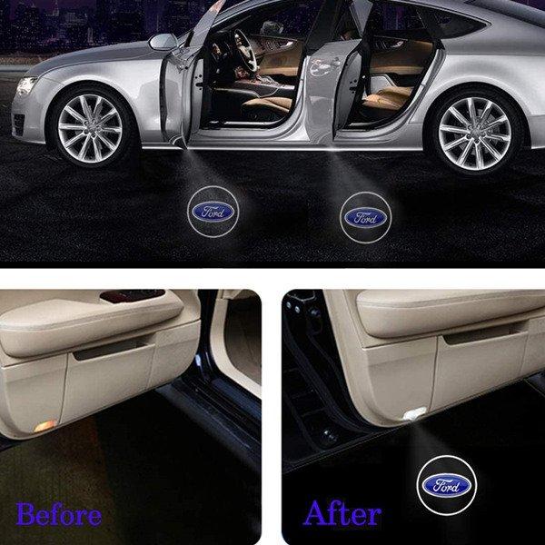 ford door logo light