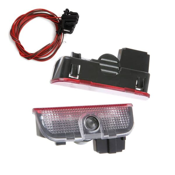 2pcs LED Car Door Courtesy Light Projector For VW Volkswagen Passat B6 B7 CC Golf 5 1