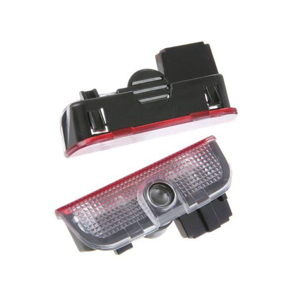 2pcs LED Car Door Courtesy Light Projector For VW Volkswagen Passat B6 B7 CC Golf 5 2