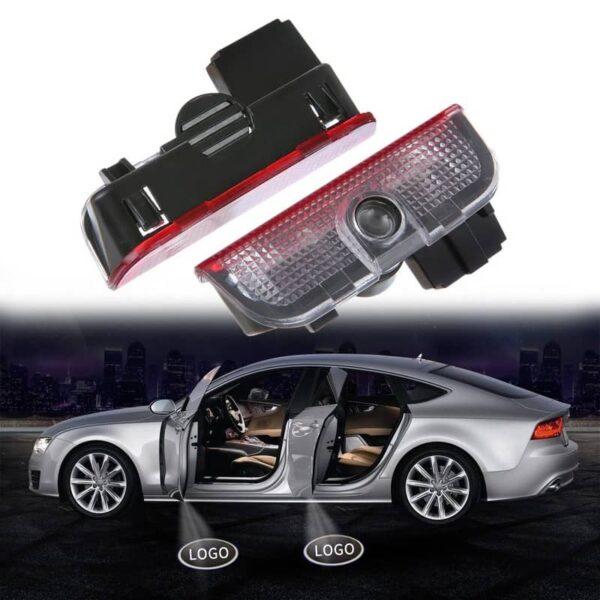 2pcs LED Car Door Courtesy Light Projector For VW Volkswagen Passat B6 B7 CC Golf 5