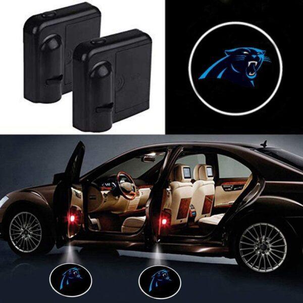 Carolina Panthers Car Door Lights