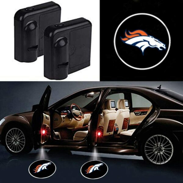 Denver Broncos Car Door Lights