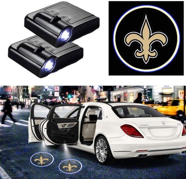 New Orleans Saints Car Door Projector Lights