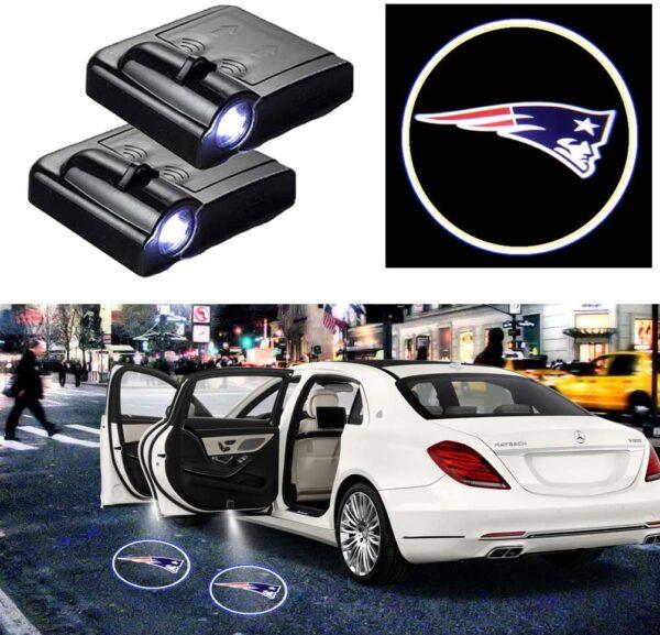 New England Patriots Car Door Lights