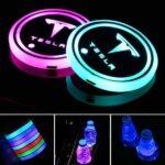 Tesla LED Cup Holder Lights