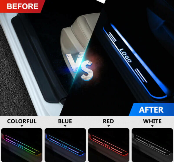 Customized Acrylic LED Door Sill Scuff Plate Illuminated Door Running Board Trim Pedal Pathway Welcome Pedal 1 副本
