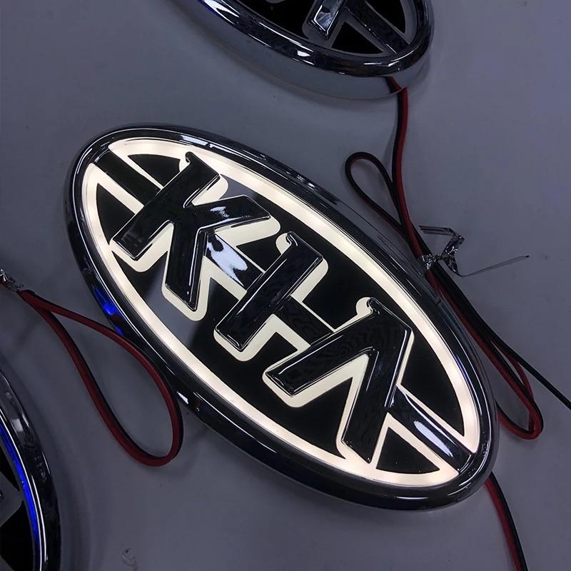 kia 5d led illuminated car badge light emblems 13cm x 65cm