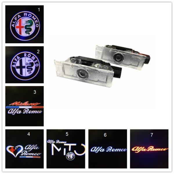 2Pcs for Alfa Romeo 159 LED Car Door Welcome Light Logo Projector for Alfa Romeo 159