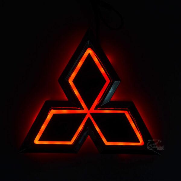New Car Styling 5D Rear Badge Bulb Emblem Logo Light For Mitsubishi Galant Lancer Lioncel Zinger 1