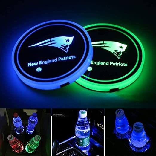 New England Patriots Logo Cup Holder Lights