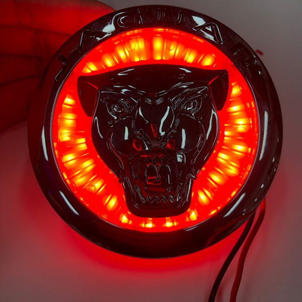 Car Styling For Jaguar XF XJ XJL 3D Plating Front Center Grille Emblem Badge Decals light 4