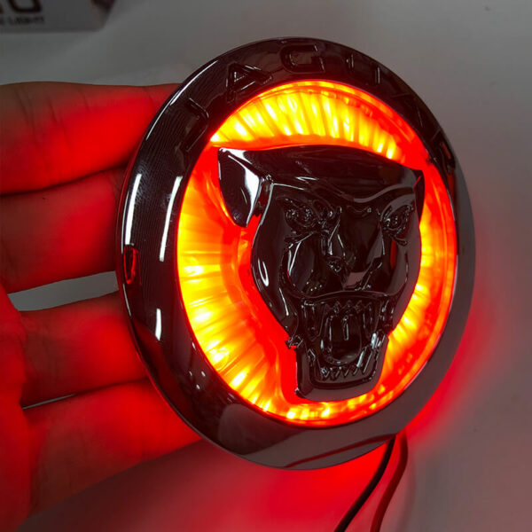 Car Styling For Jaguar XF XJ XJL 3D Plating Front Center Grille Emblem Badge Decals light 5