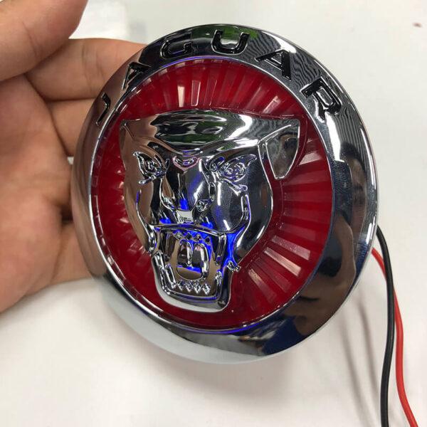 Car Styling For Jaguar XF XJ XJL 3D Plating Front Center Grille Emblem Badge Decals light