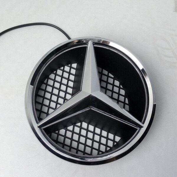 LED Emblem Logo Grill LED Badge White LED Illuminated Star For Benz A B C CLS 1