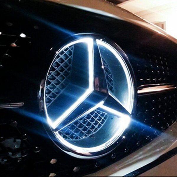 LED-Emblem-Logo-Grill-LED-Badge-White-LED-Illuminated-Star-For-Benz