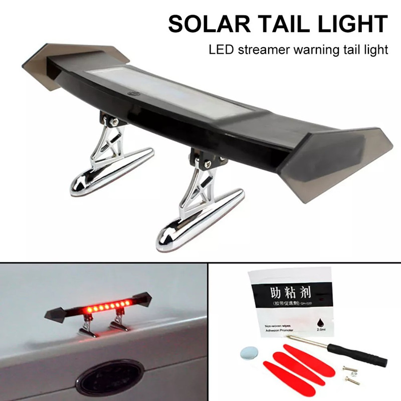 img 1 Auto Bremse Licht Solar Powered LED Spoiler Mini Hinten Fl gel R cklicht Vibration Sensor LED.jpg .webp