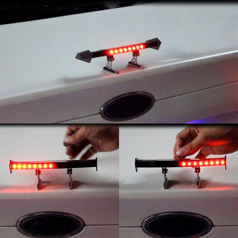 img 2 Auto Bremse Licht Solar Powered LED Spoiler Mini Hinten Fl gel R cklicht Vibration Sensor LED.jpg .webp